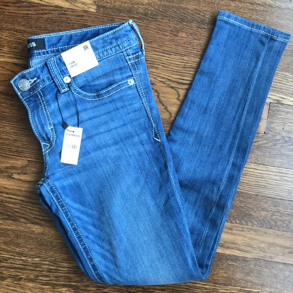 NWT Express low rise jean leggings
